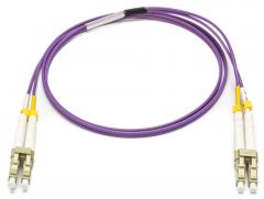 Camplex MMXDM4-LC-LC-010   OM4 10/40/100G Multimode Duplex LC to LC Armored Fiber Patch Cable - Purple - 10-Meter