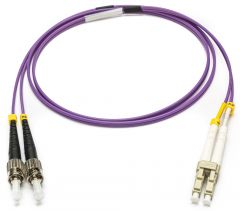 Camplex MMXDM4-ST-LC-010   OM4 10/40/100G Multimode Duplex ST to LC Armored Fiber Patch Cable - Purple - 10-Meter