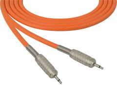 Sescom MSC100MMOE Audio Cable Mogami Neglex Quad 3.5mm TS Mono Male to 3.5mm TS Mono Male Orange - 100 Foot