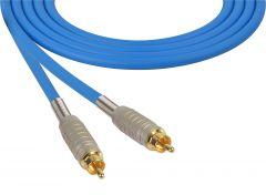 Sescom MSC100RRBE Audio Cable Mogami Neglex Quad RCA Male to RCA Male Blue - 100 Foot