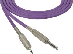 Sescom MSC100SMPE Audio Cable Mogami Neglex Quad 1/4 TS Mono Male to 3.5mm TS Mono Male Purple - 100 Foot