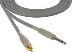 Sescom MSC100SRGY Audio Cable Mogami Neglex Quad 1/4 TS Mono Male to RCA Male Gray - 100 Foot