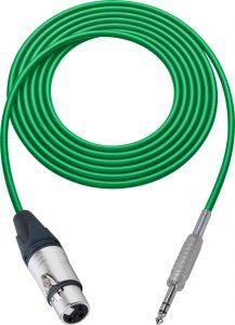Sescom MSC100XJSZGN Audio Cable Mogami Neglex Quad 3-Pin XLR Female to 1/4 TRS Balanced Male Green - 100 Foot