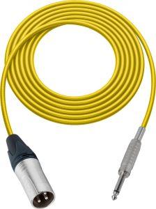 Sescom MSC100XSYW Audio Cable Mogami Neglex Quad 3-Pin XLR Male to 1/4 TS Mono Male Yellow - 100 Foot