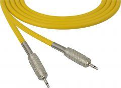 Sescom MSC50MMYW Audio Cable Mogami Neglex Quad 3.5mm TS Mono Male to 3.5mm TS Mono Male Yellow - 50 Foot