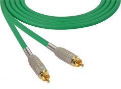 Sescom MSC50RRGN Audio Cable Mogami Neglex Quad RCA Male to RCA Male Green - 50 Foot