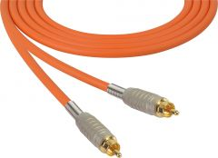 Sescom MSC50RROE Audio Cable Mogami Neglex Quad RCA Male to RCA Male Orange - 50 Foot