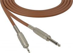 Sescom MSC50SMBN Audio Cable Mogami Neglex Quad 1/4 TS Mono Male to 3.5mm TS Mono Male Brown - 50 Foot
