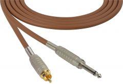 Sescom MSC50SRBN Audio Cable Mogami Neglex Quad 1/4 TS Mono Male to RCA Male Brown - 50 Foot