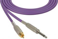Sescom MSC50SRPE Audio Cable Mogami Neglex Quad 1/4 TS Mono Male to RCA Male Purple - 50 Foot