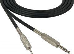 Sescom MSC50SZMZ Audio Cable Mogami Neglex Quad 1/4 TRS Balanced Male to 3.5mm TRS Balanced Male Black - 50 Foot