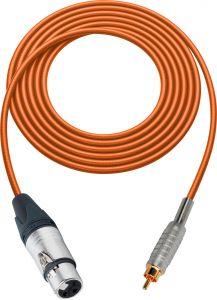 Sescom MSC50XJROE Audio Cable Mogami Neglex Quad 3-Pin XLR Female to RCA Male Orange - 50 Foot
