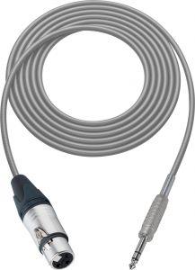 Sescom MSC50XJSZGY Audio Cable Mogami Neglex Quad 3-Pin XLR Female to 1/4 TRS Balanced Male Gray - 50 Foot