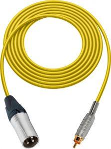 Sescom MSC50XRYW Audio Cable Mogami Neglex Quad 3-Pin XLR Male to RCA Male Yellow - 50 Foot