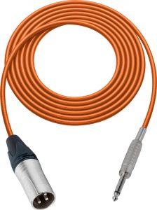 Sescom MSC50XSOE Audio Cable Mogami Neglex Quad 3-Pin XLR Male to 1/4 TS Mono Male Orange - 50 Foot