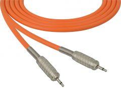 Sescom MSC75MMOE Audio Cable Mogami Neglex Quad 3.5mm TS Mono Male to 3.5mm TS Mono Male Orange - 75 Foot