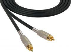 Sescom MSC75RR   Audio Cable Mogami Neglex Quad RCA Male to Male Black - 75 Foot