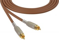 Sescom MSC75RRBN   Audio Cable Mogami Neglex Quad RCA Male to Male Brown - 75 Foot