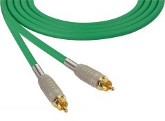 Sescom MSC75RRGN Audio Cable Mogami Neglex Quad RCA Male to RCA Male Green - 75 Foot