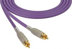 Sescom MSC75RRPE   Audio Cable Mogami Neglex Quad RCA Male to Male Purple - 75 Foot