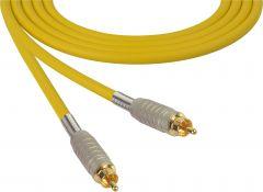 Sescom MSC75RRYW Audio Cable Mogami Neglex Quad RCA Male to RCA Male Yellow - 75 Foot