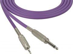 Sescom MSC75SMZPE Audio Cable Mogami Neglex Quad 1/4 TS Mono Male to 3.5mm TRS Balanced Male Purple - 75 Foot