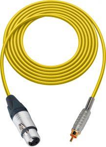 Sescom MSC75XJRYW Audio Cable Mogami Neglex Quad 3-Pin XLR Female to RCA Male Yellow - 75 Foot