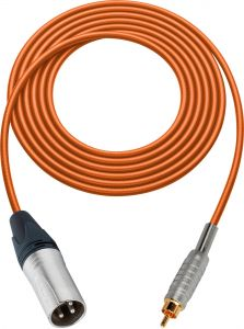 Sescom MSC75XROE   Audio Cable Mogami XLR Male to RCA Male Orange - 75 Foot