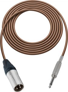 Sescom MSC75XSBN Audio Cable Mogami Neglex Quad 3-Pin XLR Male to 1/4 TS Mono Male Brown - 75 Foot