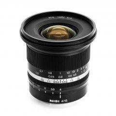 NiSi 15mm f/4 Sunstar Super Wide Angle Full Frame ASPH Lens (Sony E Mount) - NISI-LENS-1540FE