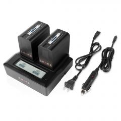 Shape SHAPE NP-F980 lithium-ion two batteries with dual LCD charger - NPF2B
