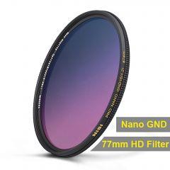 NiSi 77mm Nano Coating Graduated Neutral Density Filter GND16 1.2 - NIR-GND1.2-77