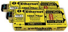 LYNX Yellobrik Bidirectional Fiber to Ethernet Transceiver 10K Pair