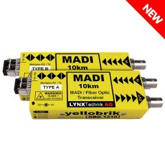 Lynx Yellobrik MADI Coax to MADI BiDi Fiber Transceiver - 10km Pair