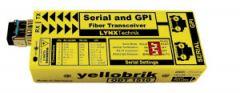 LYNX Yellobrik Serial & GPI Fiber Transceiver MultiMode Fiber LC - ODT-1510-MM