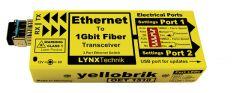 LYNX Yellobrik Ethernet to Fiber Transceiver / Extender Multimode  - OET-1510-MM