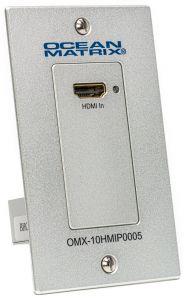 Ocean Matrix OMX-10HMIP0005 Single Gang HDMI Over IP PoE Wall Plate H.264 Transmitter ONLY