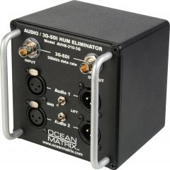 Ocean Matrix OMX-AVHE-210-3G AVHE-210-G-3G Single Channel 3G-SDI Video & 2-Channel XLR Audio Hum Eliminator