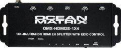 Ocean Matrix OMX-HDMI-1X4-V2 OMX-HDMI2E-1X4 1x4 4K UHD HDR HDMI 2.0 Splitter Distribution Amplifier with EDID Control