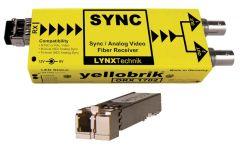Lynx Yellobrik Analog Sync / Video Fiber Optic Rcv - LC Cnct- ORX-1702