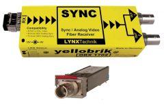 Lynx Yellobrik Analog Sync / Video Fiber Optic Rcv - ST Cnct- ORX-1702
