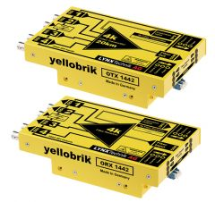 Lynx Yellobrik 4k (12G) Fiber Trans Sys PAIR- LC connectors - OTR-1442