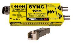 Lynx Yellobrik Analog Sync/Video Fiber Tx w/ looped input - 10km -  LC
