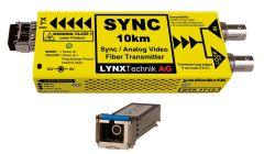 Lynx Yellobrik Analog Sync/Video Fiber Tx w/ looped input - 10km -  SC