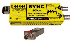 Lynx Yellobrik Analog Sync/Video Fiber Tx w/ looped input - 10km -  ST