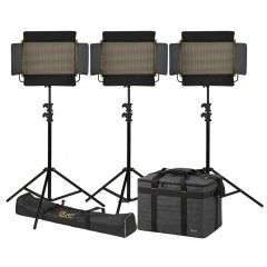 Ikan OYB15-3PT-KIT Onyx 2 x 1 Bi-Color 3-Point LED Light Kit w/...