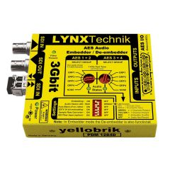 Lynx Yellowbrik PDM-1284D 3 GBit  AES Audio Embedder / Deembdder (110 Ohm SubD25 - balanced AES)