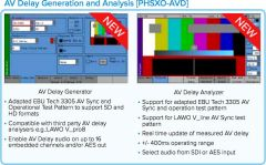 Phabrix PHSXO-AVD AV Delay Generation and Analysis Software License Supports  EBU & LAWO AV Delay Sequences
