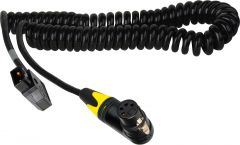 Laird Digital Cinema POWERTAP-XF4-10C Laird  PowerTap Female to 4-Pin XLR-F Power Cable - 10 Foot Coiled