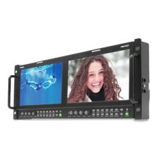 "Postium PRM-902F Dual 9"" 3G/HD/SD-SDI & HDMI LCD Rackmount..."
